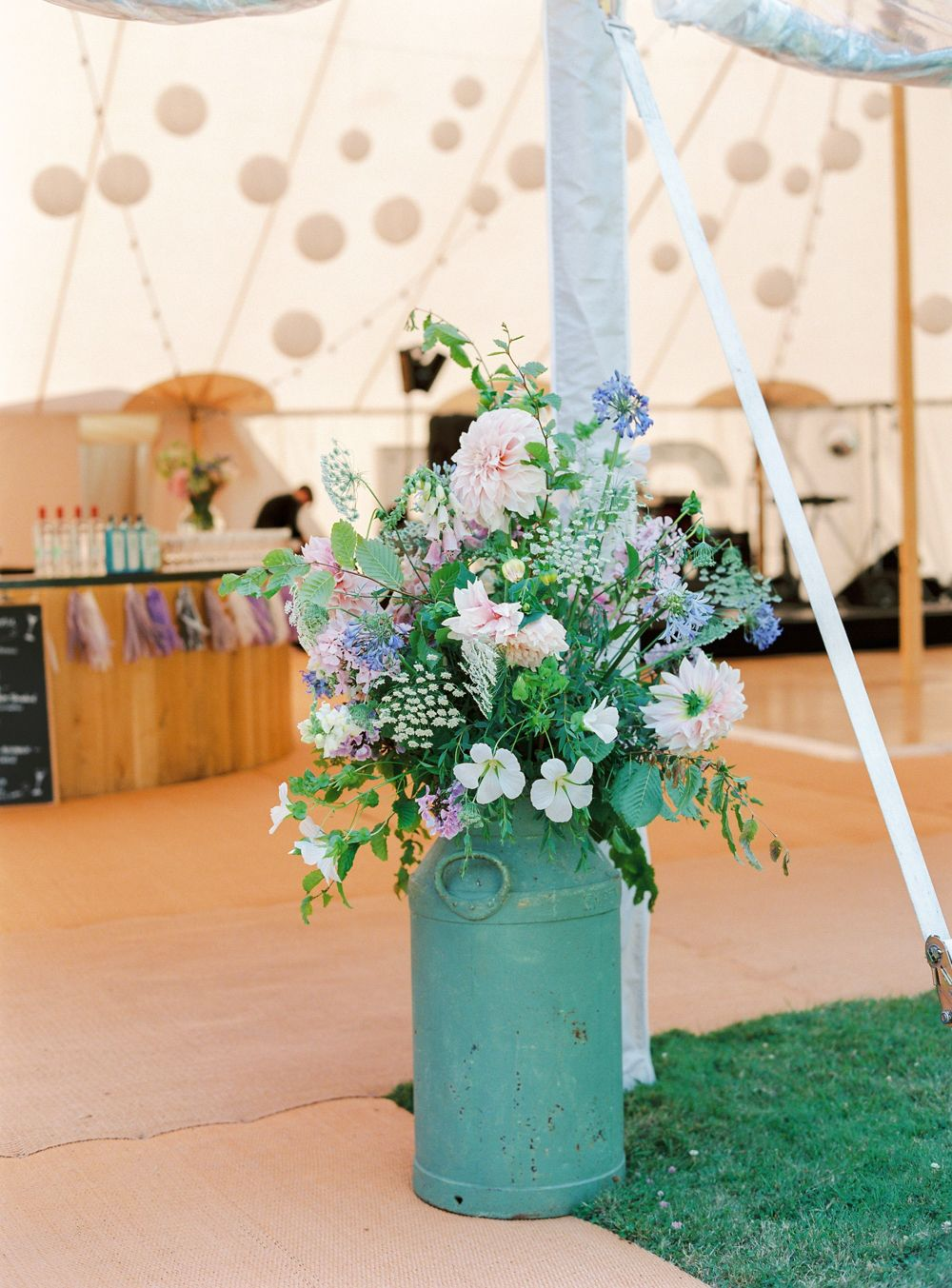 Lucy Davenport Photography Green Gorgeous Sperry Tent Wedding Papakata Marquee Newington House British Grown