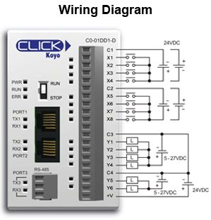 click plc c0 01dd1 d wiring diagram electrical wiring rh pinterest co uk click plc analog wiring plc Serial Port