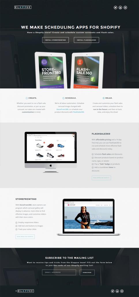 Elappse Evan Vanderwerker Scheduling App Web Design Website Design