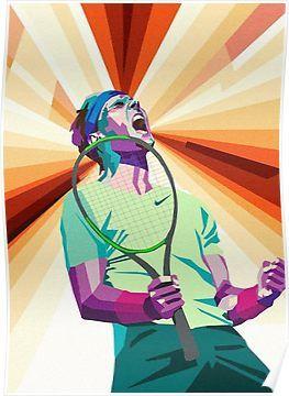 Rafael Nadal Poster Tennis Art Tennis Posters Rafael Nadal