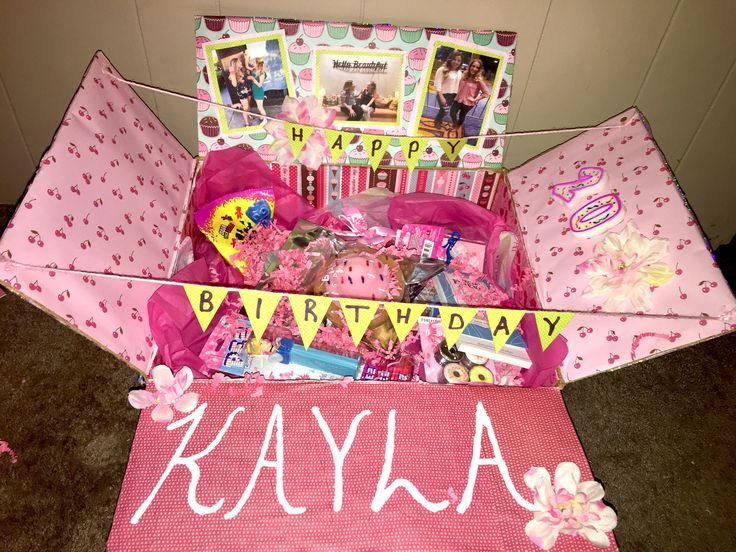 Best Friend Birthday Care Package Pop Up Box In 2020 Birthday Care Packages Bff Birthday Gift Birthday Presents For Friends