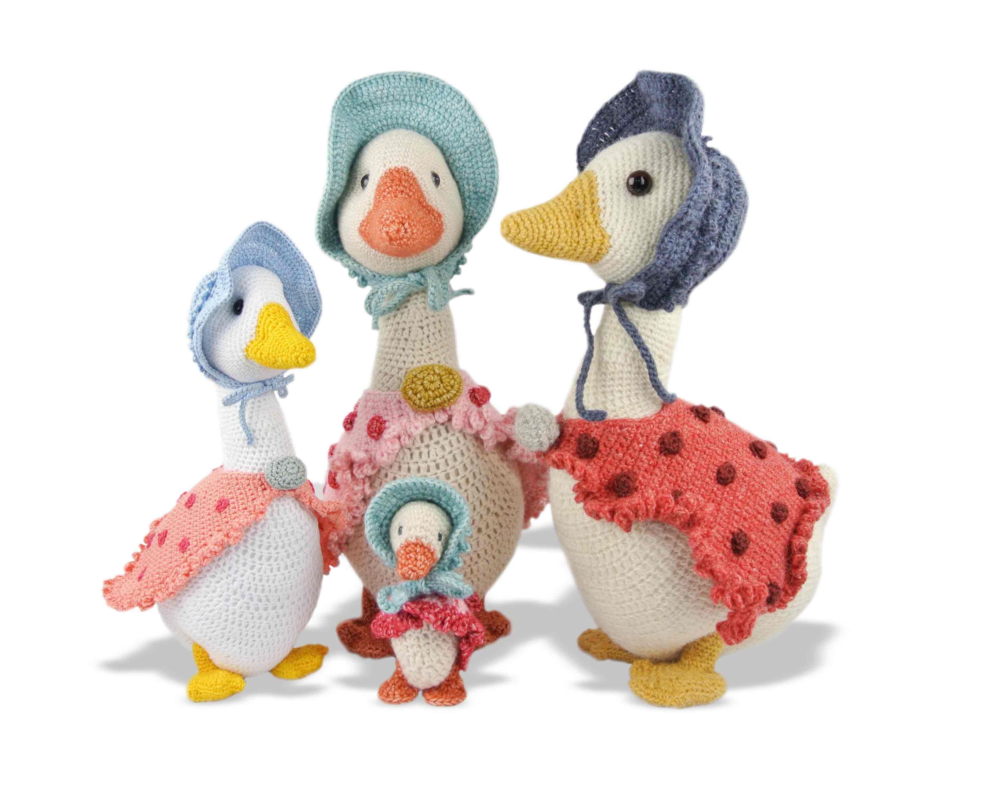 Pasen haken: ganzen Haakpret | Crochet toys | Pinterest | Juguetes ...
