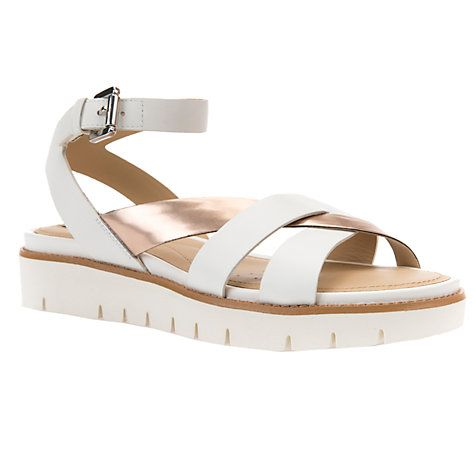 Buy Geox Darline Cross Strap Sandals, Light Gold Leather Online at  johnlewis.com