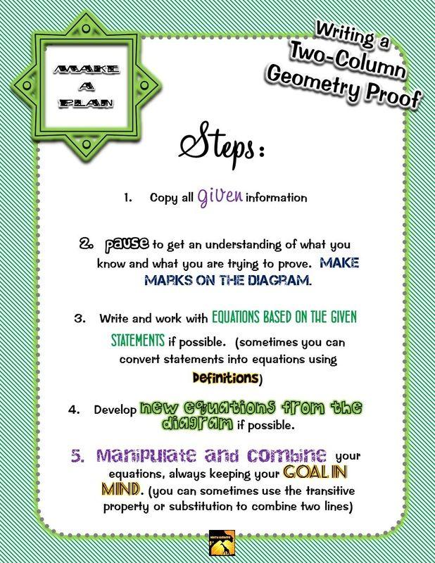Introducing Geometry Proofs - A New Approach - Math Giraffe   School ...