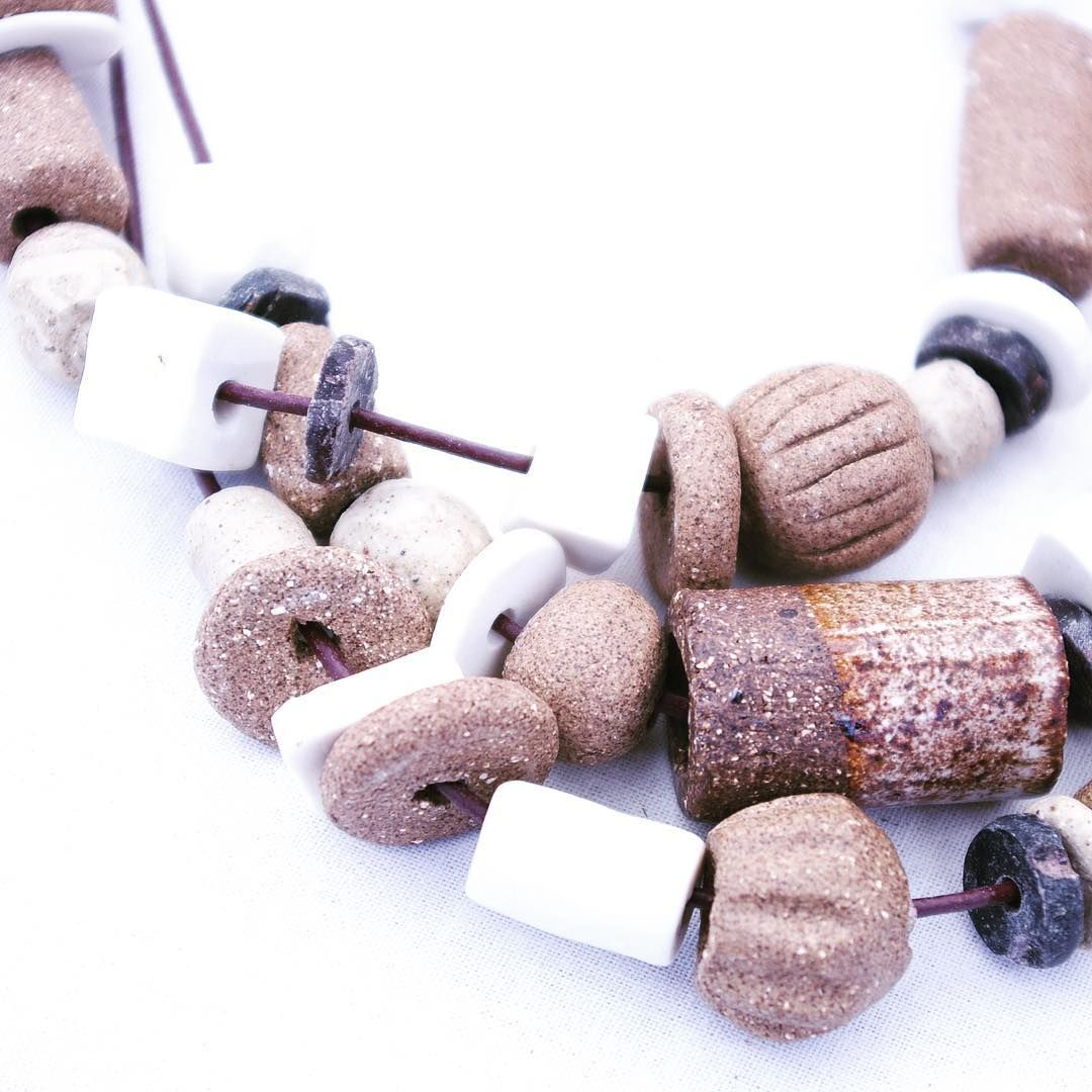 Ceramic beads... New necklaces by Judith Hoffmann ceramics