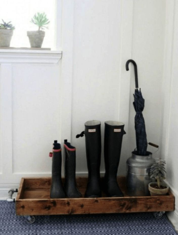 Rubber Shoe Tray Entryway