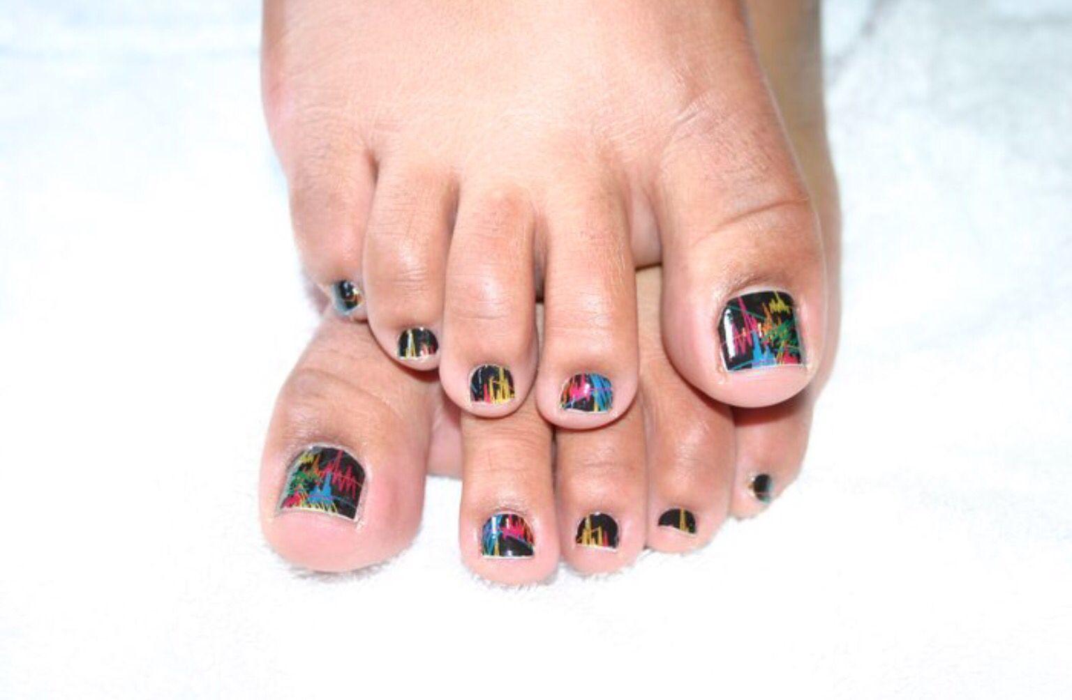 Minx pedicure #cosmospalounge #nailart #handpainted #minx ...