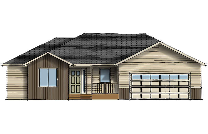 Rambler Model #30 - 3 Bed, 2 Bath - 1465 Sq. Ft. - Your Style, Your Home. Jordahl Custom Homes #yourstyleyourhome #jordahlcustomhomes