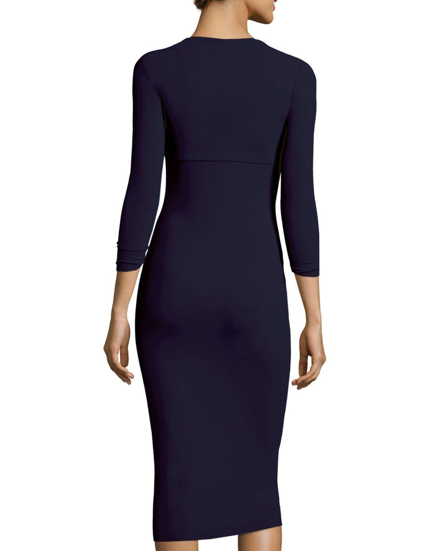 Custom Collection: Serenity 3/4-Sleeve Sweetheart Knee-Length Cocktail Dress