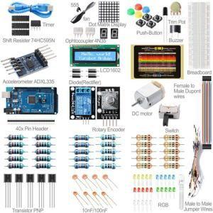 Description: Ce kit Set Pour Arduino vous guide à travers les bases de l'utilisation de la Arduino d'une  manière pratique. Vous apprendrez par la  construction de plusieurs p