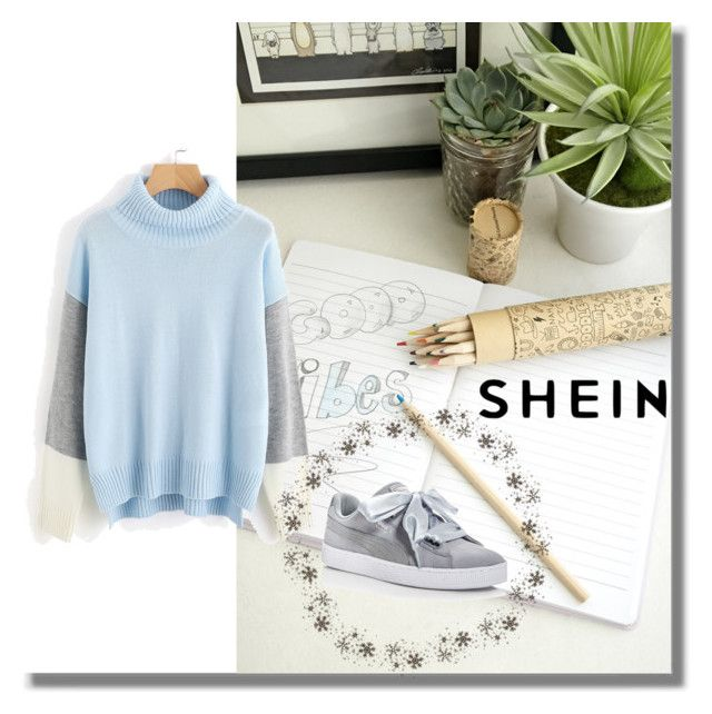 """SHEIN"" by melisamesanovic ❤ liked on Polyvore featuring Puma and Forever 21"