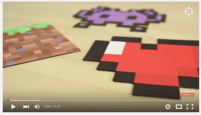 These are awesome, I hadn't heard of pixel art before today. You need Graphics software or pixel art app to make these, but if you have any of these, this amazing tutorial by sealemon shows you how to make make these funky images. It's a fab unique idea to make for the men/boys in your life (or girls).
