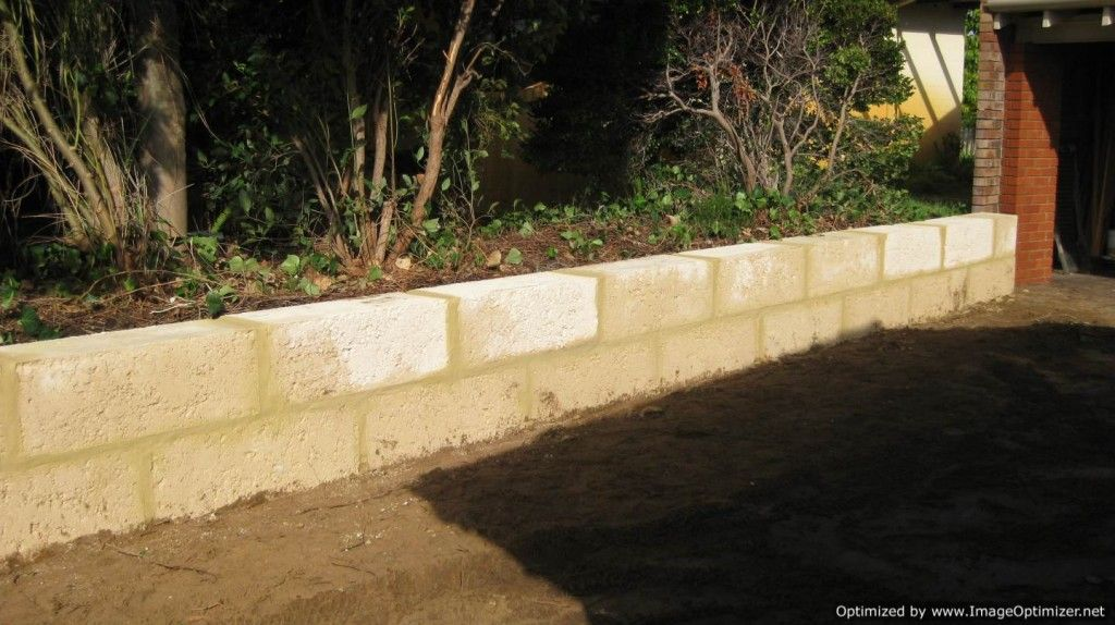 laying concrete blocks to look like limestone - Google Search | Yard ...