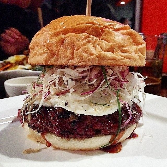 Ronin Burger - Angus beef, caramelized onions, Japanese coleslaw, miso goma dressing, fried egg, katsu bbq, yuzu citrus aioli at Bachi Burger by @misscutiefoodie - Tag your favorites with #toplarestaurants #bachiburger #toprestaurantsgroup #larestaurant #larestaurants lafoodie #laeats #lafood #lafoodporn #gourmet #gourmetfood #bonappetit #cheflife #cuisine #chef #foodpic #foodpics #foodie #eat #hungry #lunch #dinner #food #instafood #vsco #vscocam #vsco_hub #vsco_best #bestofvsco #f52grams…