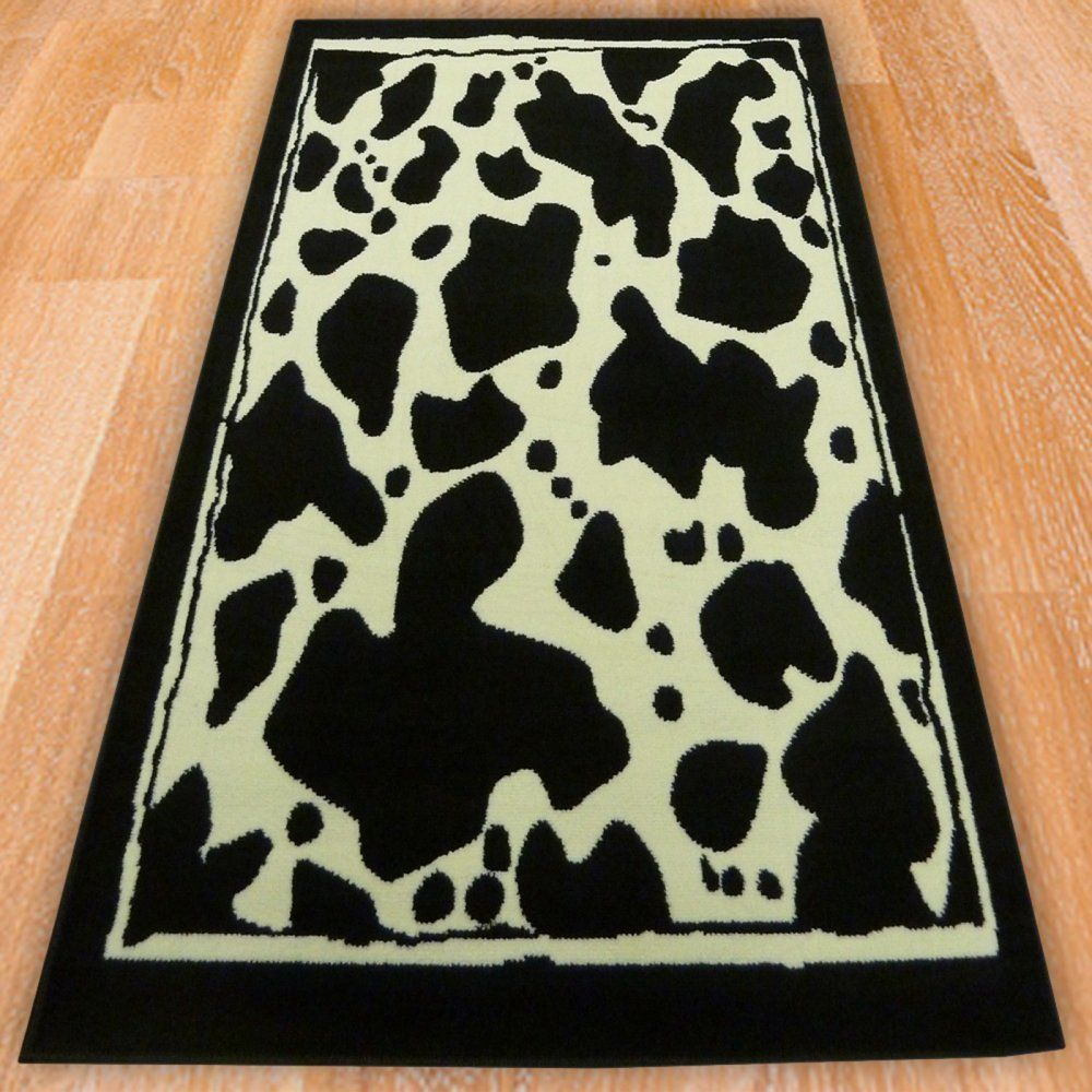 Details About Range 60 Cow Print Rug Soft Luxury Good