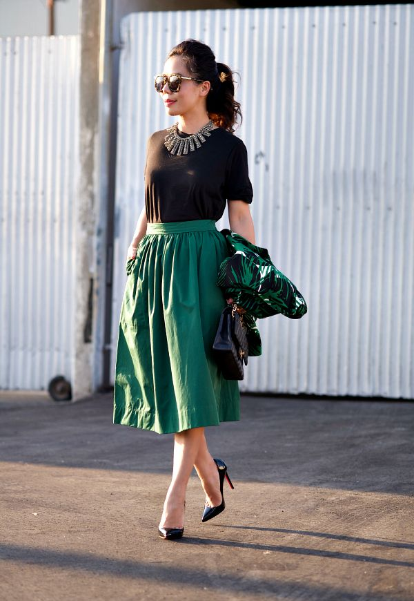 HallieDaily: Summer Night Out in Green and Black. | My Style ...