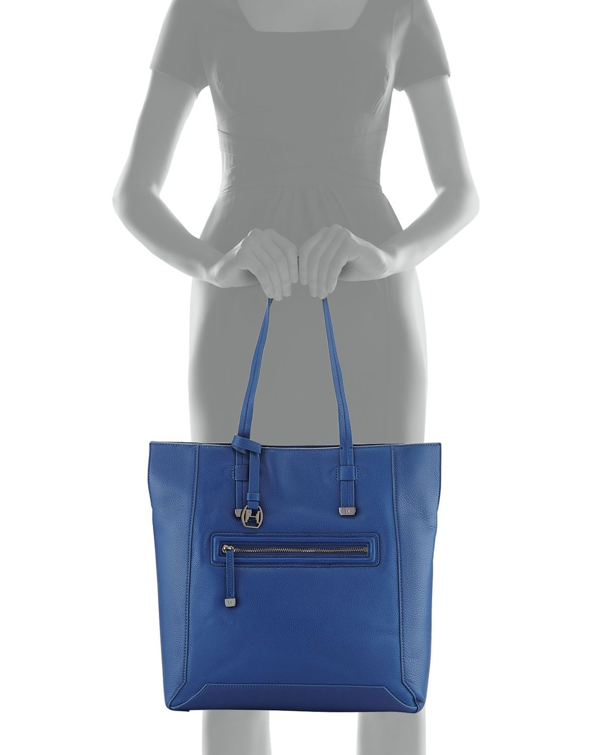 9aec76003f Halston Leather North South Tote Bag