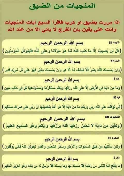 المنجيات من الضيق Islam Facts Quran Verses Funny Quotes
