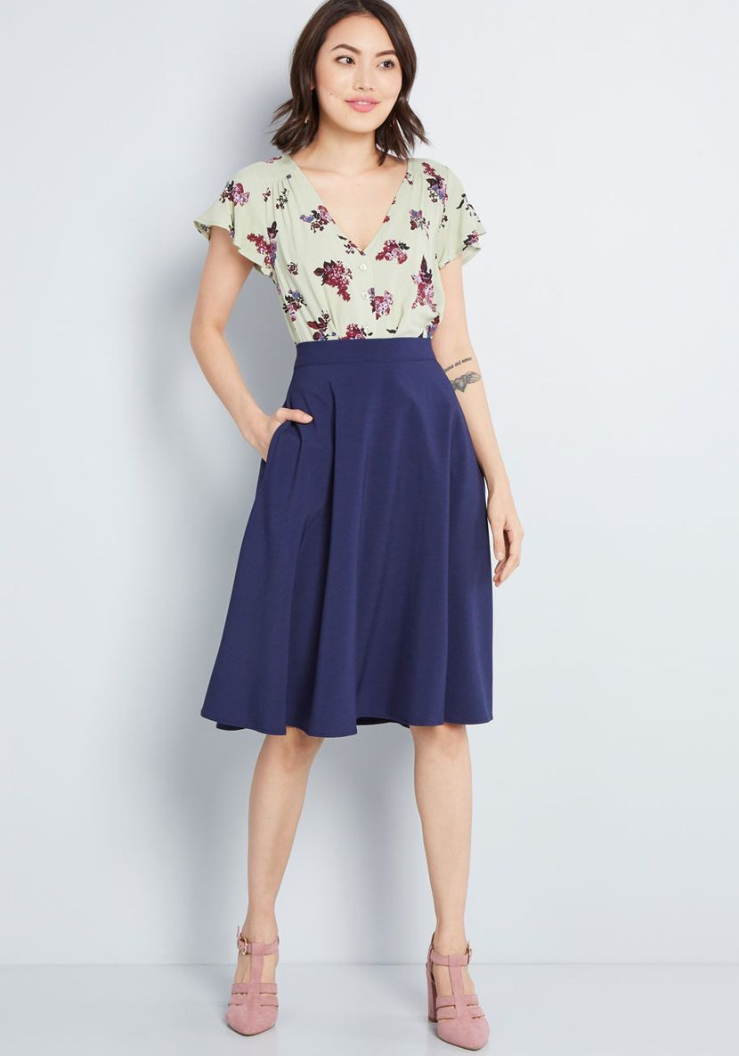 ca998652d54ae2 Just This Sway A-Line Skirt in Carnation in 2019 | chrissy | Skirts ...