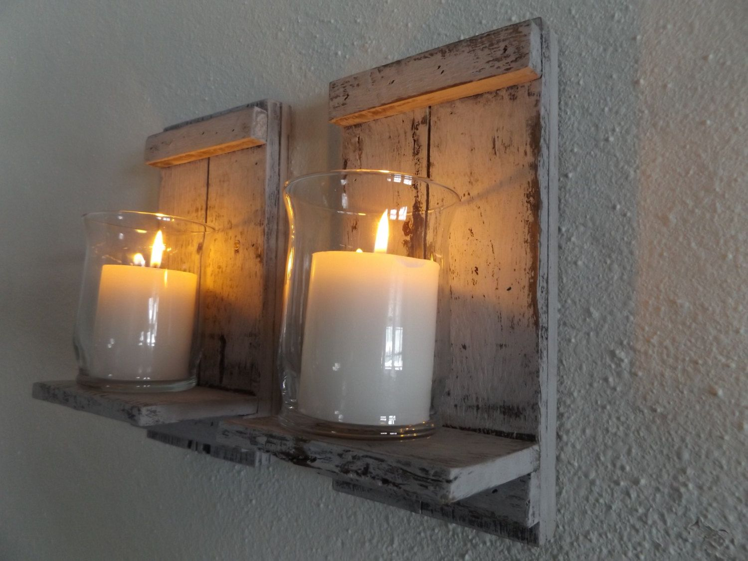 the candle sconce wall pastapieandpirouettes sconces com rustic wood for