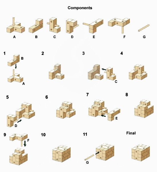 Ancient Key Wooden Puzzles Solutions 3d Brain Teasers Jigsaw Puzzles