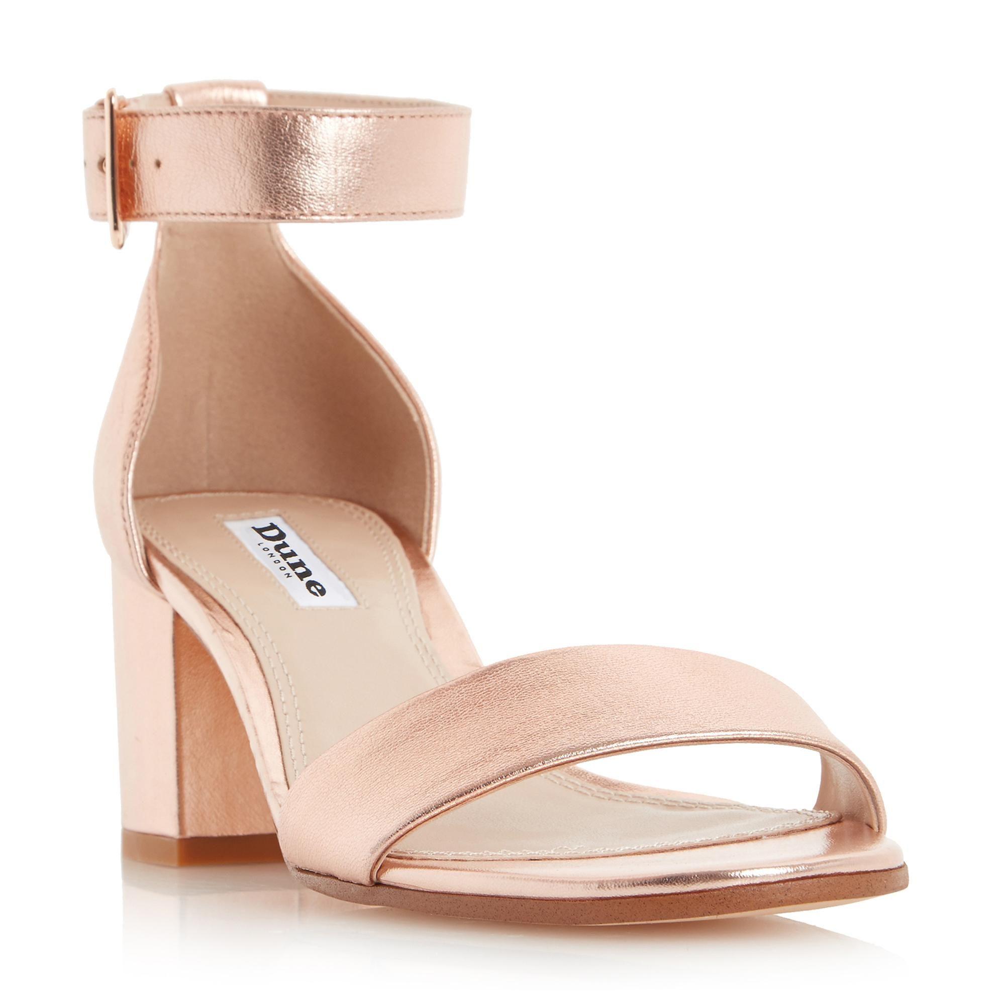 657e8c8fc74 DUNE LADIES JAYGO - Two Part Block Heel Sandal - rose gold