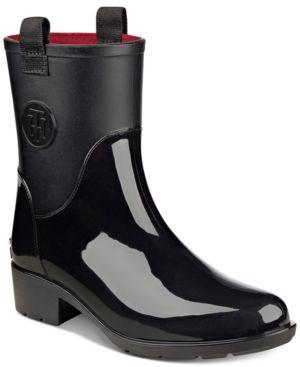b760a7c47a0896 Tommy Hilfiger Khristie Rain Boots - Black 7M