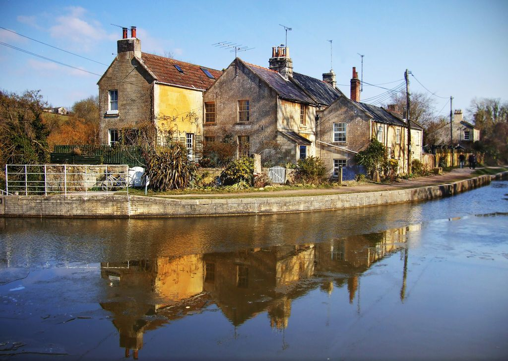 Spring Morning in Avoncliff, UK jigsaw puzzle in Street ...