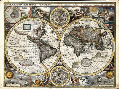 A New And Accurate Map Of The World Maps Pinterest Th - 17th century world map