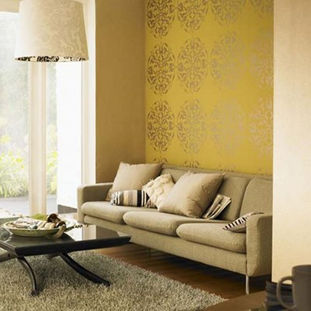 Lovely Living Room Wallpaper Accent Wall Ideas - The Wall Art ...