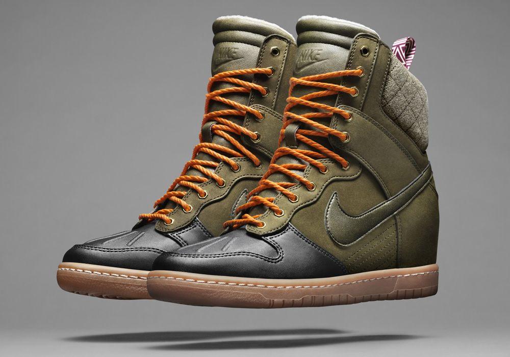 Nike Wmns Nike Lunar Force 1 Sky Hi Sneakers wedge