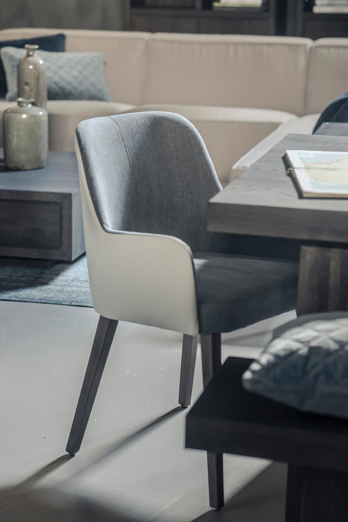 Eettafel Stoelen Blauw Leer.Eetkamerstoel Leer Stof Eetkamerstoel Stoer Furniture In 2019