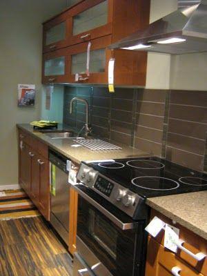 Flip Up Ikea Wall Cabinets Brown Tile Backsplash Small Kitchen