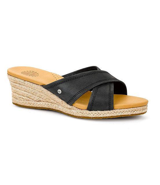 Ugg Australia Gwyn Espadrille Wedge Sandals 35 Orig -4273