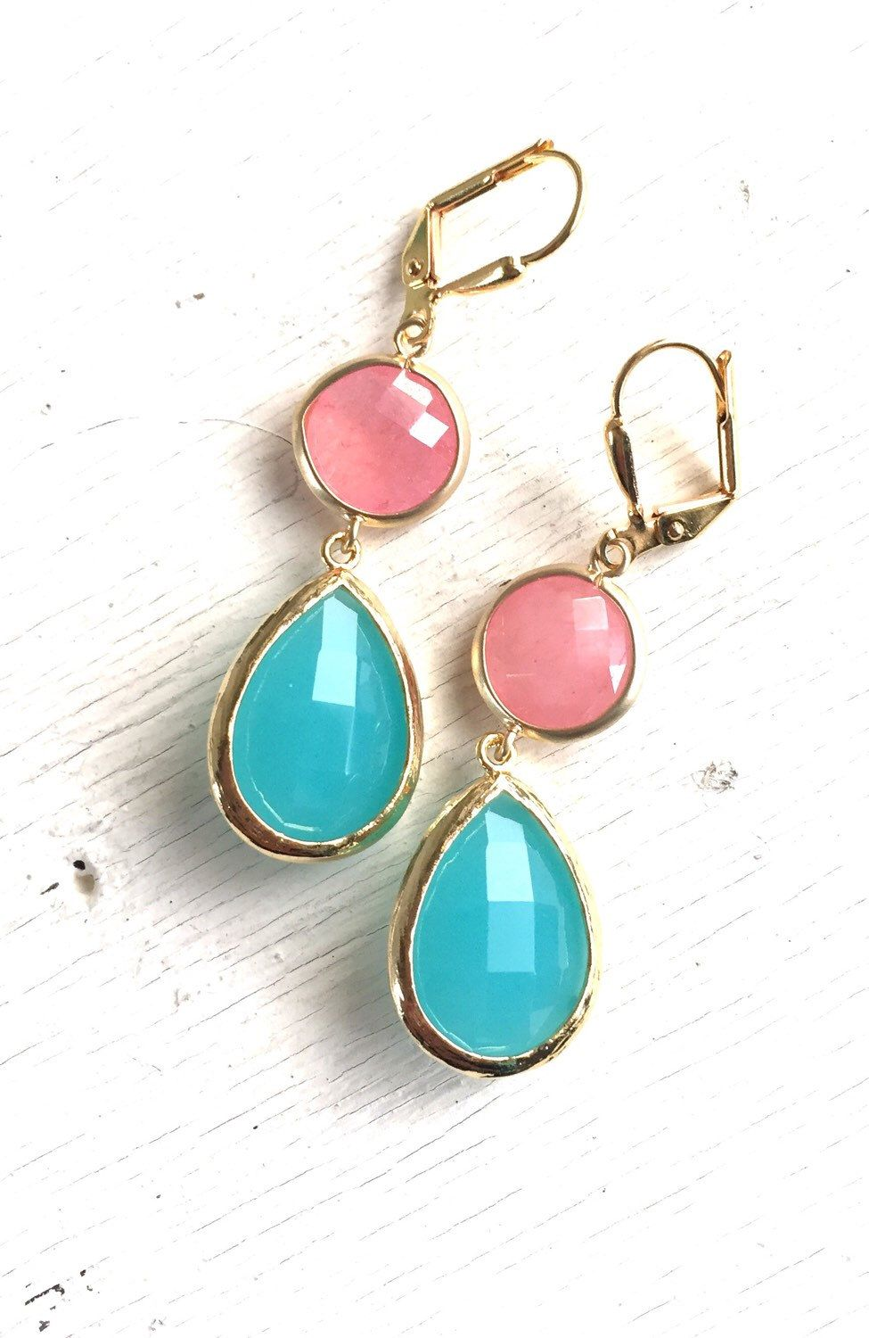 Coral and Turquoise Dangle Earrings | Jewelry | Pinterest | Dangles ...