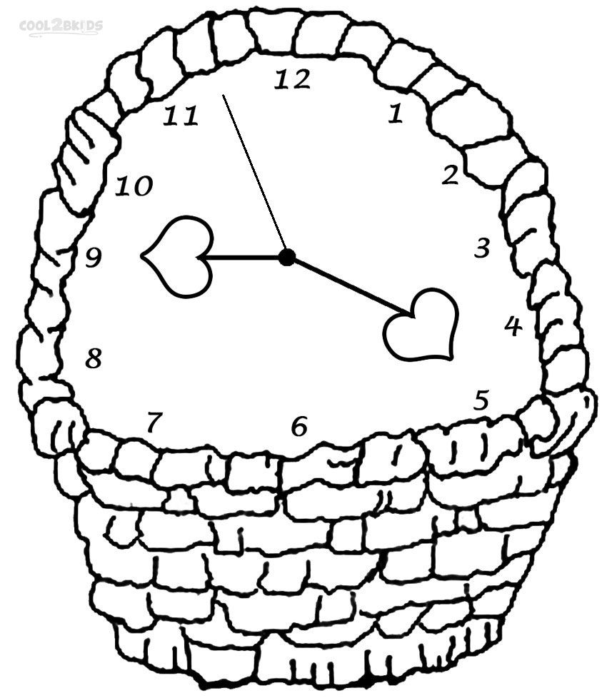 Printable Clock Coloring Pages For Kids | Cool2bKids | Miscellaneous ...