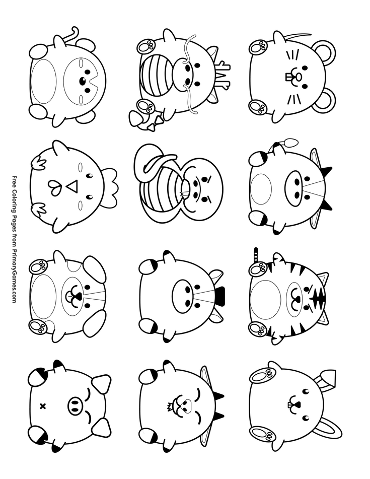 chinese new year coloring pages ebook cute chinese zodiac symbols chinese new year new year. Black Bedroom Furniture Sets. Home Design Ideas