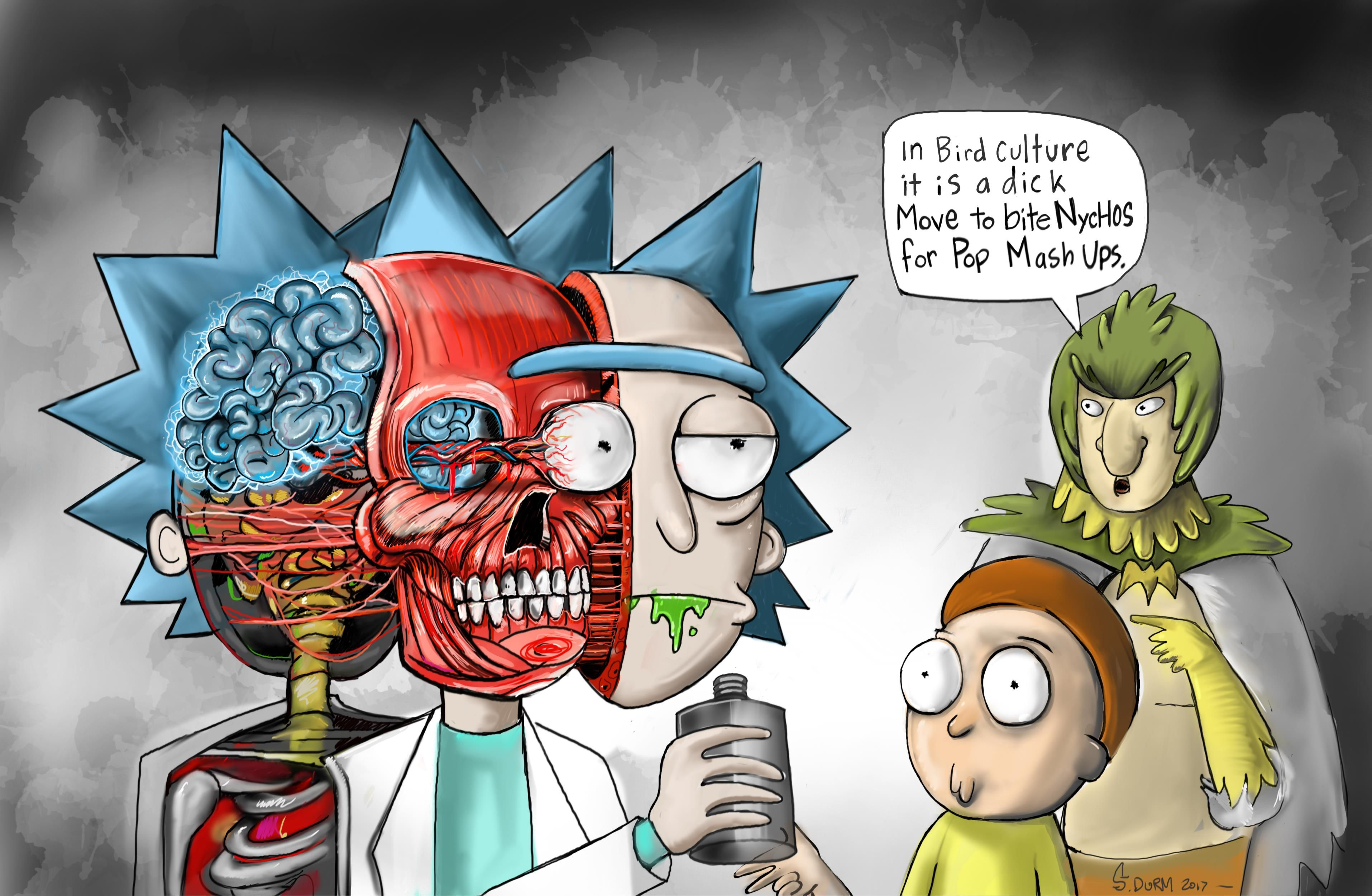 Rick And Morty Fan Piece Homage To Nychos Digital 740kb Rick And Morty Rick Morty