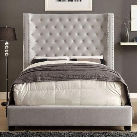 Cierra Upholstered Bed Ivory Upholstered Panel Bed Queen