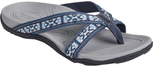 db37539ac2df5 Earth Malia Flip Flop in Blue. A relief pod in the heel helps to ...