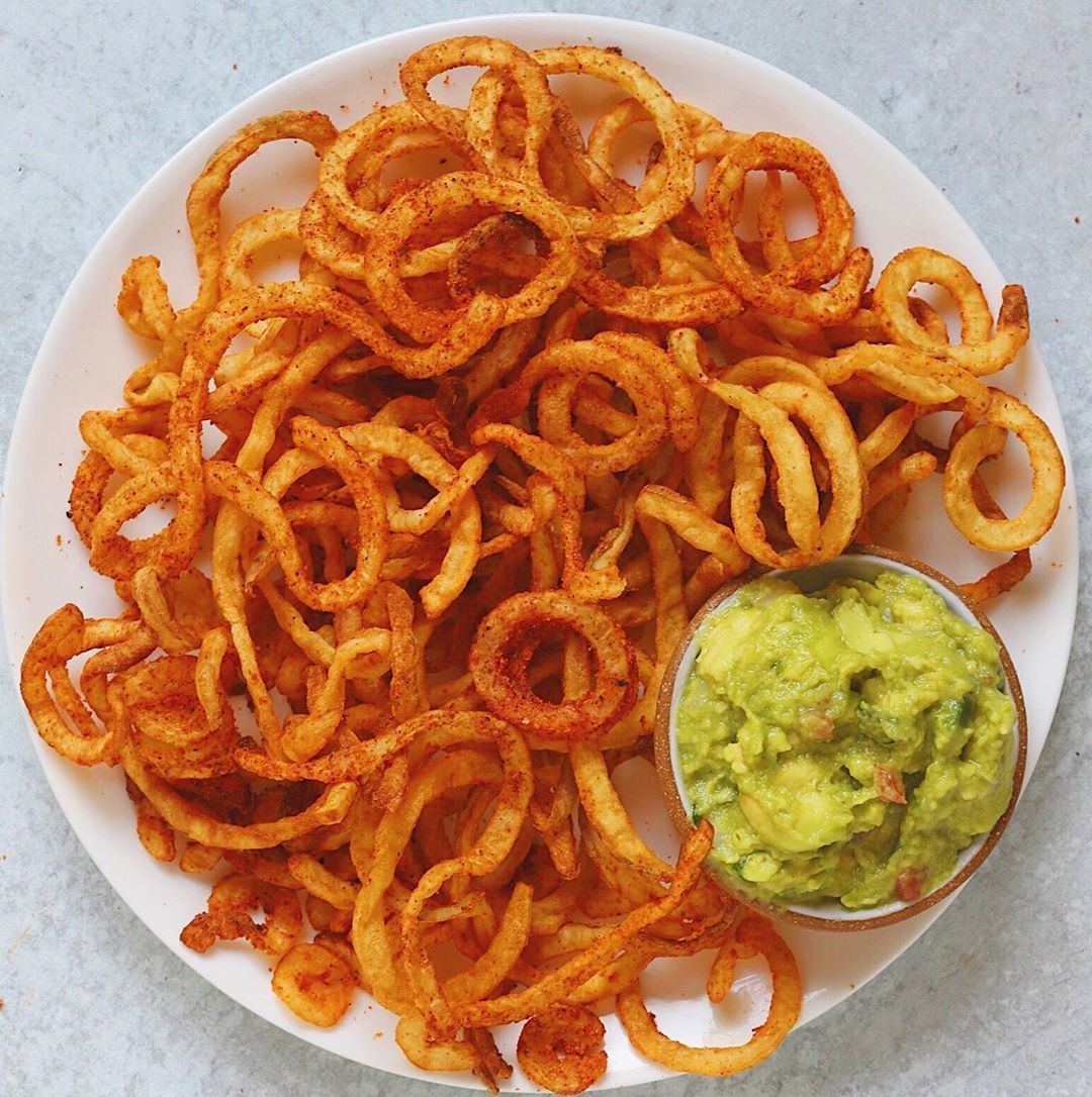 Smoky Curly Fries (Air Fryer Recipe) Happy Fryyay