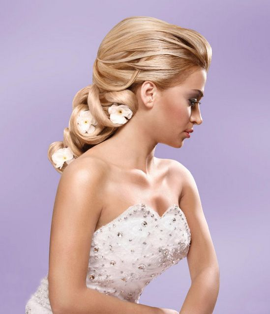 Bridal Hairstyle for Long Down Hair .