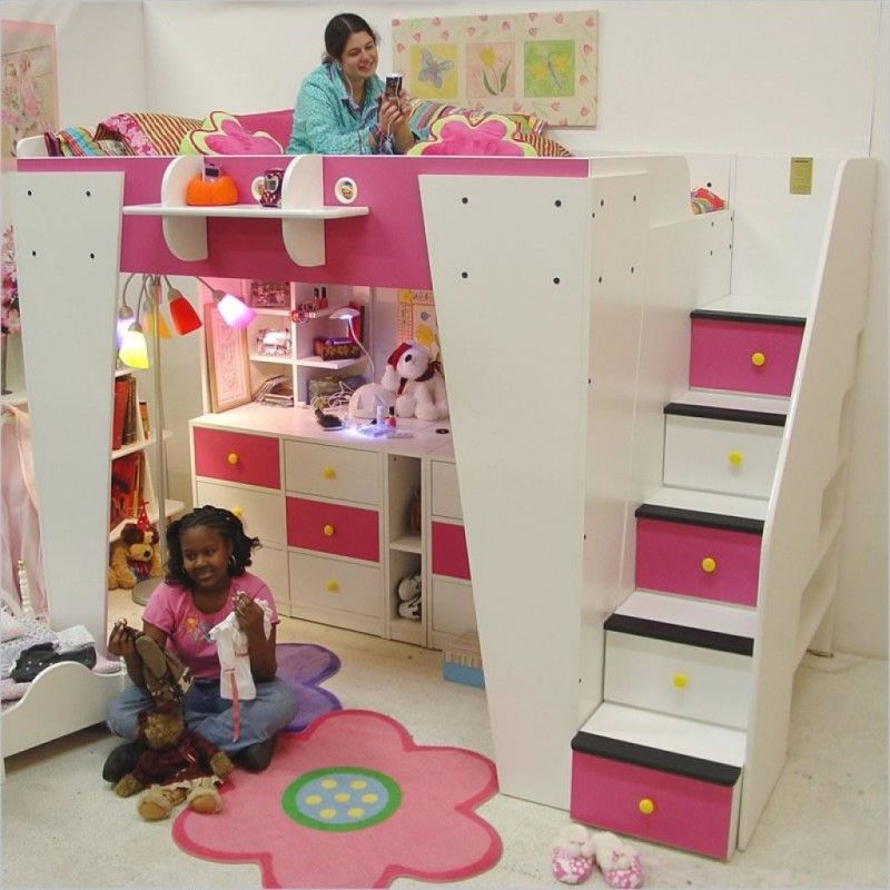 Smart And Active Loft Beds For Kids With Desk Loft Bed Pinterest