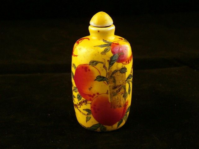 Chinese Porcelain *Peach* Snuff Bottle
