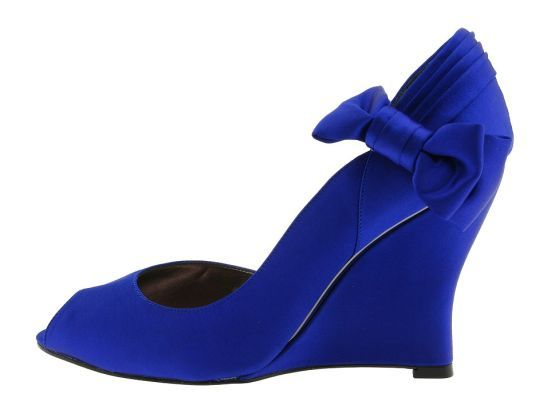 Blue Wedding Shoes Wedges Something Blue Wedge Wedding Shoes