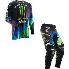 Fox Racing Monster Energy Dirt Bike Gear Biking Outfit Motocross Gear