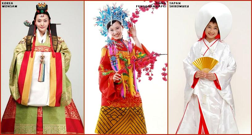 """TRADITIONAL WEDDING: Korean """"Hanbok"""" Vs Chinese """"Cheongsam"""