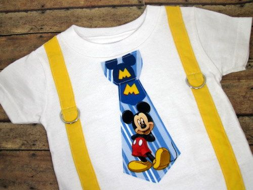 92f1b4645 Blue Mickey Mouse Tie with Yellow Suspenders by bkchicboutique, $22.00