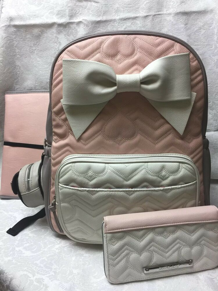 New Betsey Johnson Baby Diaper Bag Bow