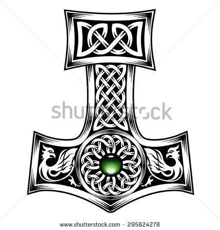 Hammer of Thor medieval Viking Symbol - stock vector ...